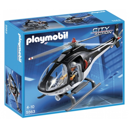 PLAYMOBIL : HELICOPTER AVEC POLICIE DES FORCES SPECIALES