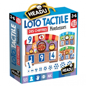 HEADU - LOTO TACTILE 123 MONTESSORI