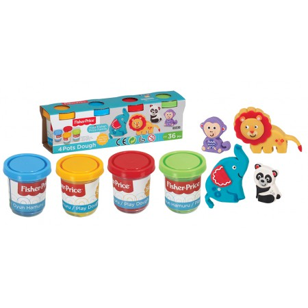 Fisher price - Pâte à modeler - 4 Pots - Grand modèle