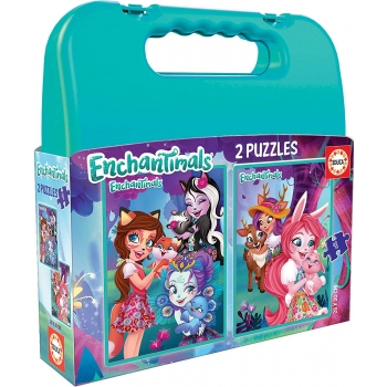 EDUCA - MALETTE PUZZLE ENCHANTIMALS 2*48