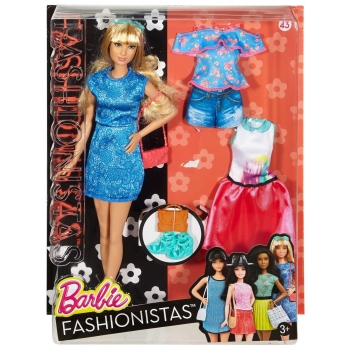 MATTEL - DTF06 - BARBIE FASHIONISTA GRANDE BLONDE