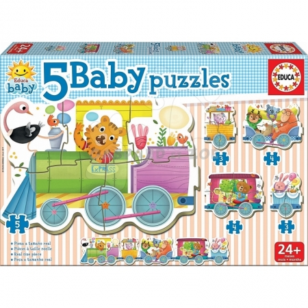 EDUCA - PUZZLE TRAIN DES ANIMAUX