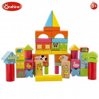 ONSHINE - BLOCKS DE CONSTRUCTION EN BOIS 62 PCS