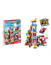 STATION POMPIERS - BLOCKS 128 PCS