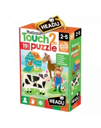 HEADU - MONTESSORI TOUCH 2 PIECES PUZZLE LA FERME